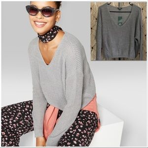 Wild Fable V-Neck Pullover Knit Sweater sz L NWT